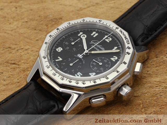 Used luxury watch Glashütte Sport chronograph steel automatic Kal. 10-60  | 141026 01