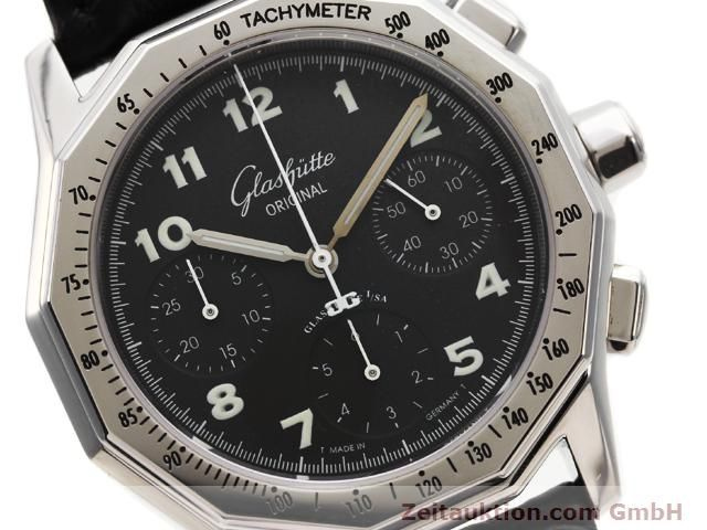 Used luxury watch Glashütte Sport chronograph steel automatic Kal. 10-60  | 141026 02