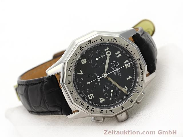 Used luxury watch Glashütte Sport chronograph steel automatic Kal. 10-60  | 141026 03