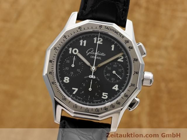 Used luxury watch Glashütte Sport chronograph steel automatic Kal. 10-60  | 141026 04