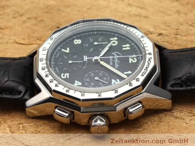 Used luxury watch Glashütte Sport chronograph steel automatic Kal. 10-60  | 141026 05