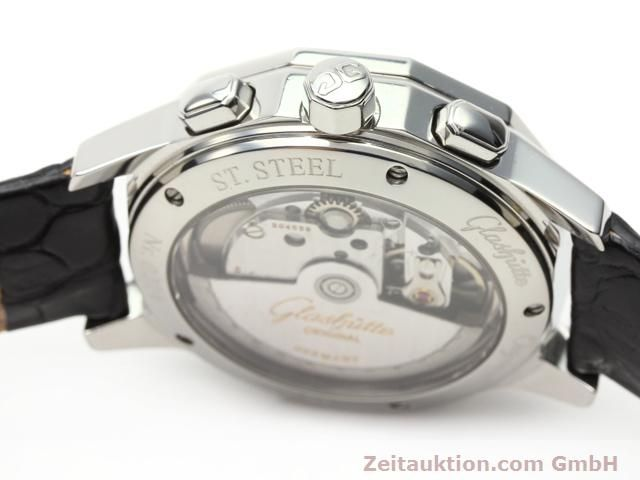 Used luxury watch Glashütte Sport chronograph steel automatic Kal. 10-60  | 141026 08