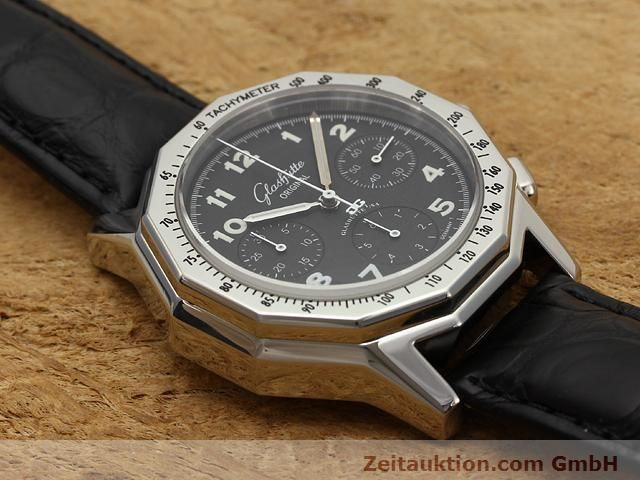 Used luxury watch Glashütte Sport chronograph steel automatic Kal. 10-60  | 141026 12