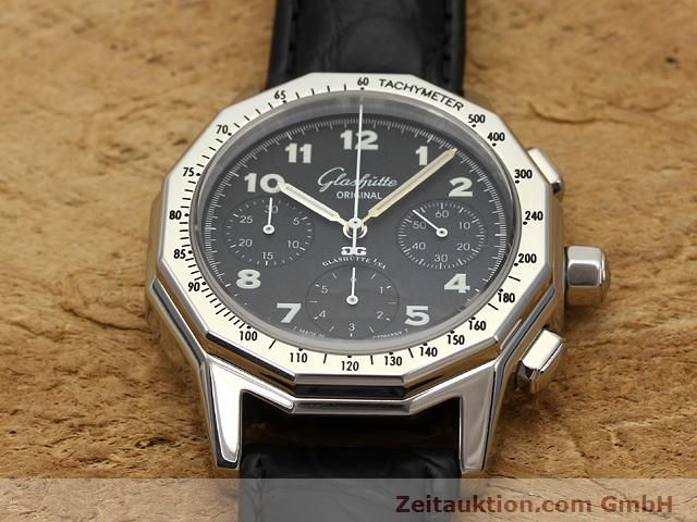 Used luxury watch Glashütte Sport chronograph steel automatic Kal. 10-60  | 141026 13