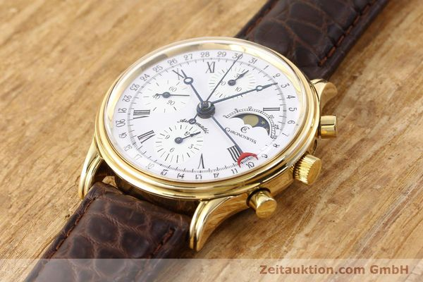 Used luxury watch Chronoswiss Lunar gold-plated automatic Kal. ETA 7750 Ref. 77990  | 141047 01