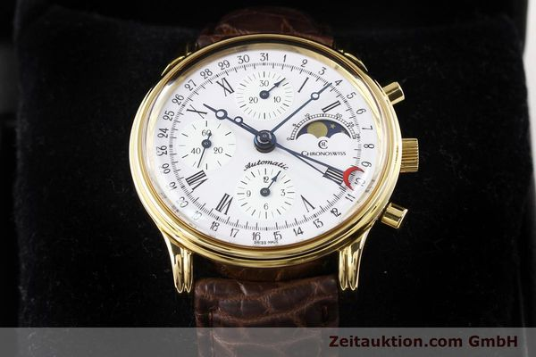 Used luxury watch Chronoswiss Lunar gold-plated automatic Kal. ETA 7750 Ref. 77990  | 141047 07