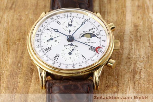 Used luxury watch Chronoswiss Lunar gold-plated automatic Kal. ETA 7750 Ref. 77990  | 141047 14