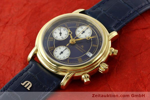 Used luxury watch Maurice Lacroix Croneo chronograph gold-plated automatic Kal. ETA 7750 Ref. 03700  | 141049 01