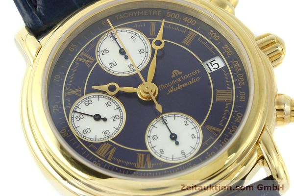 Used luxury watch Maurice Lacroix Croneo chronograph gold-plated automatic Kal. ETA 7750 Ref. 03700  | 141049 02