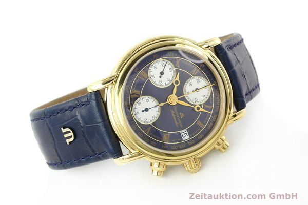 Used luxury watch Maurice Lacroix Croneo chronograph gold-plated automatic Kal. ETA 7750 Ref. 03700  | 141049 03