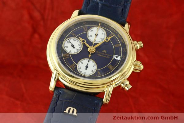 Used luxury watch Maurice Lacroix Croneo chronograph gold-plated automatic Kal. ETA 7750 Ref. 03700  | 141049 04