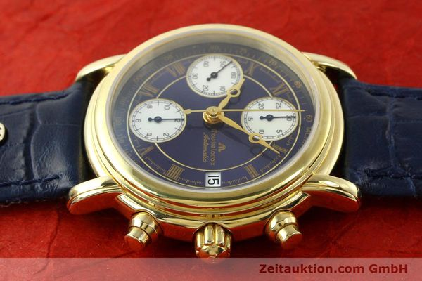 Used luxury watch Maurice Lacroix Croneo chronograph gold-plated automatic Kal. ETA 7750 Ref. 03700  | 141049 05