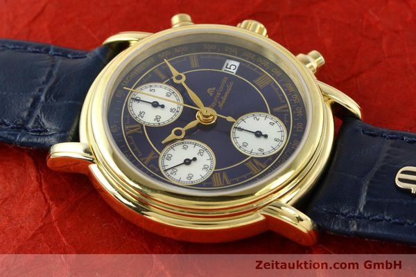 Used luxury watch Maurice Lacroix Croneo chronograph gold-plated automatic Kal. ETA 7750 Ref. 03700  | 141049 12