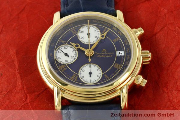 Used luxury watch Maurice Lacroix Croneo chronograph gold-plated automatic Kal. ETA 7750 Ref. 03700  | 141049 13