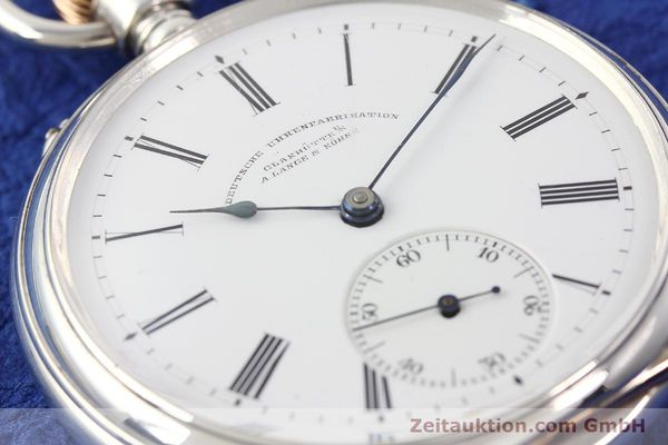 Used luxury watch A. Lange & Söhne ALS Taschenuhr silver manual winding  | 141051 02