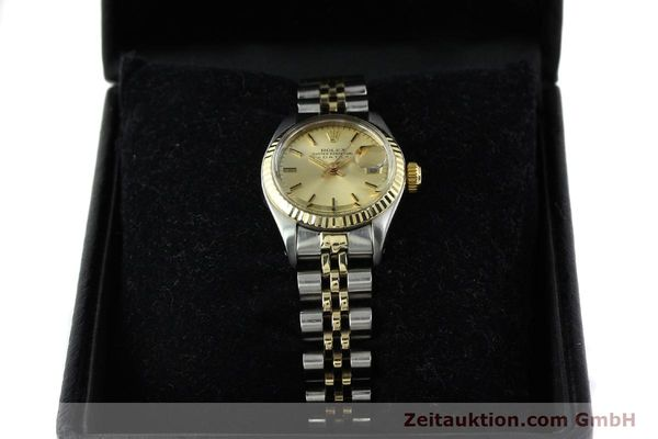 Used luxury watch Rolex Lady Date steel / gold automatic Kal. 2030 Ref. 6917  | 141057 07