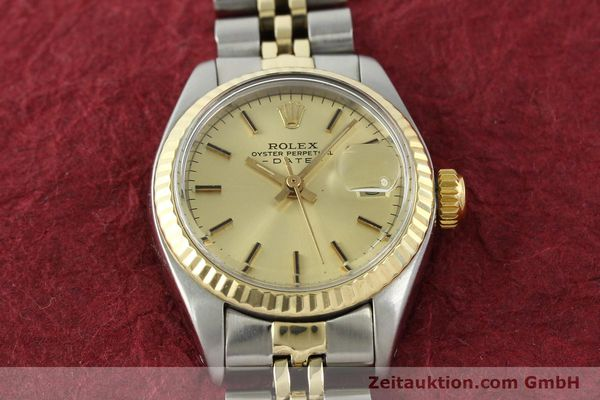 Used luxury watch Rolex Lady Date steel / gold automatic Kal. 2030 Ref. 6917  | 141057 16