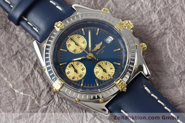 Used luxury watch Breitling Chronomat gilt steel automatic Kal. ETA 7750 Ref. B130501  | 141061 13