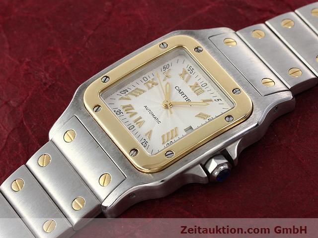 Used luxury watch Cartier Santos steel / gold automatic Kal. 120 (ETA 2000-1)  | 141063 01