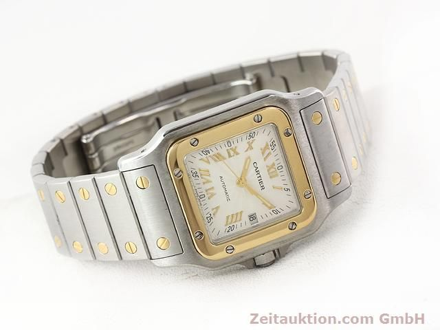 Used luxury watch Cartier Santos steel / gold automatic Kal. 120 (ETA 2000-1)  | 141063 03