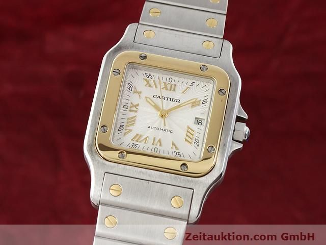 Used luxury watch Cartier Santos steel / gold automatic Kal. 120 (ETA 2000-1)  | 141063 04
