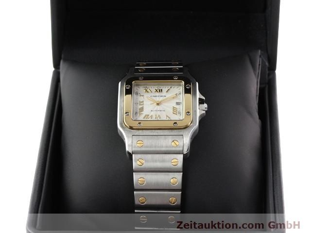Used luxury watch Cartier Santos steel / gold automatic Kal. 120 (ETA 2000-1)  | 141063 07