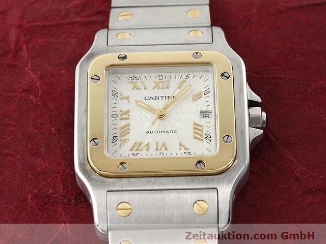 Used luxury watch Cartier Santos steel / gold automatic Kal. 120 (ETA 2000-1)  | 141063 14