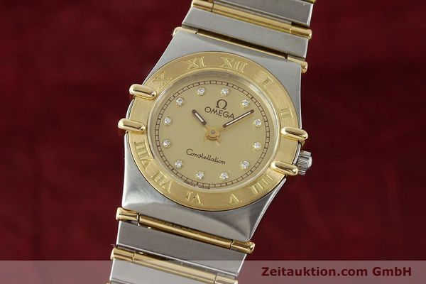 Used luxury watch Omega Constellation steel / gold quartz Kal. 1455 ETA 976001 Ref. 795.1080  | 141067 04