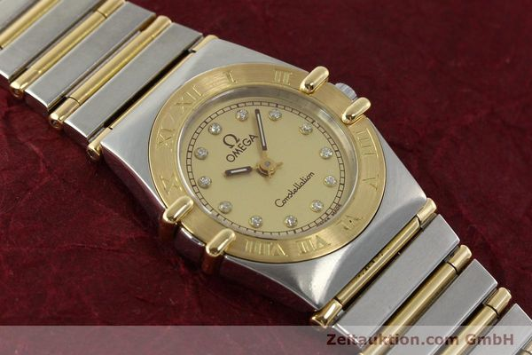 Used luxury watch Omega Constellation steel / gold quartz Kal. 1455 ETA 976001 Ref. 795.1080  | 141067 15