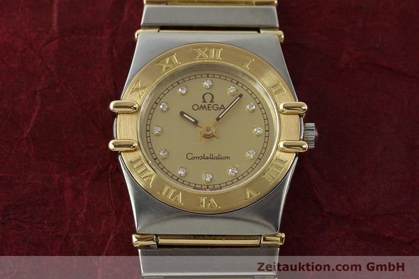Used luxury watch Omega Constellation steel / gold quartz Kal. 1455 ETA 976001 Ref. 795.1080  | 141067 16
