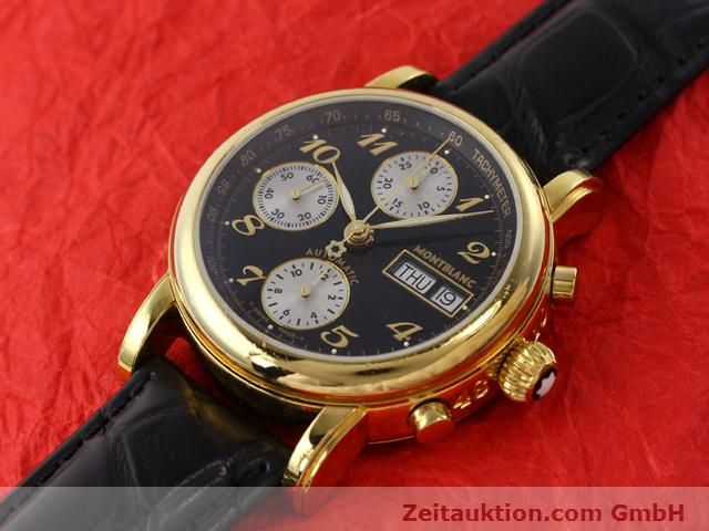 Used luxury watch Montblanc Meisterstück gold-plated automatic Kal. 4810501 (ETA 7750) Ref. 7001  | 141068 01