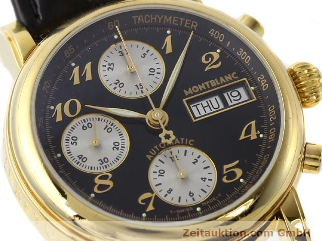 Used luxury watch Montblanc Meisterstück gold-plated automatic Kal. 4810501 (ETA 7750) Ref. 7001  | 141068 02