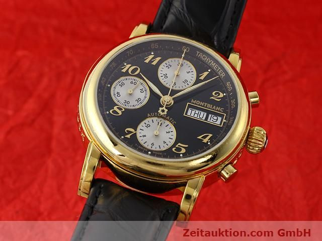 Used luxury watch Montblanc Meisterstück gold-plated automatic Kal. 4810501 (ETA 7750) Ref. 7001  | 141068 04