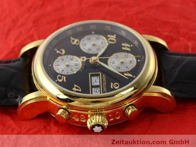Used luxury watch Montblanc Meisterstück gold-plated automatic Kal. 4810501 (ETA 7750) Ref. 7001  | 141068 05