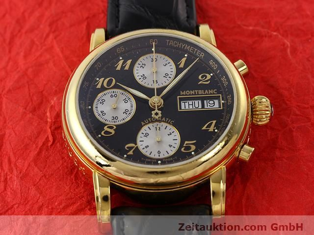 Used luxury watch Montblanc Meisterstück gold-plated automatic Kal. 4810501 (ETA 7750) Ref. 7001  | 141068 14