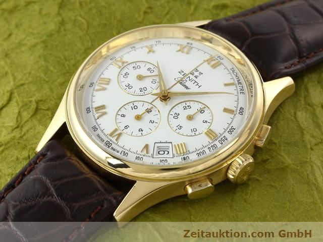 Used luxury watch Zenith Prime chronograph 18 ct gold manual winding Kal. 420 Ref. 06-0010.420  | 141078 01