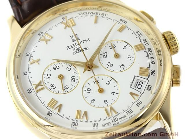 Used luxury watch Zenith Prime chronograph 18 ct gold manual winding Kal. 420 Ref. 06-0010.420  | 141078 02