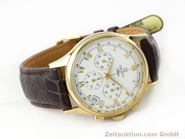 Used luxury watch Zenith Prime chronograph 18 ct gold manual winding Kal. 420 Ref. 06-0010.420  | 141078 03