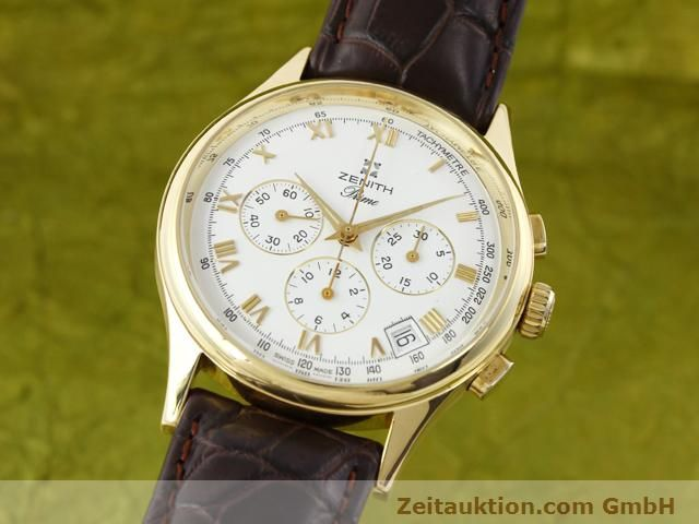 Used luxury watch Zenith Prime chronograph 18 ct gold manual winding Kal. 420 Ref. 06-0010.420  | 141078 04