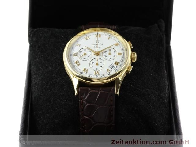 Used luxury watch Zenith Prime chronograph 18 ct gold manual winding Kal. 420 Ref. 06-0010.420  | 141078 07
