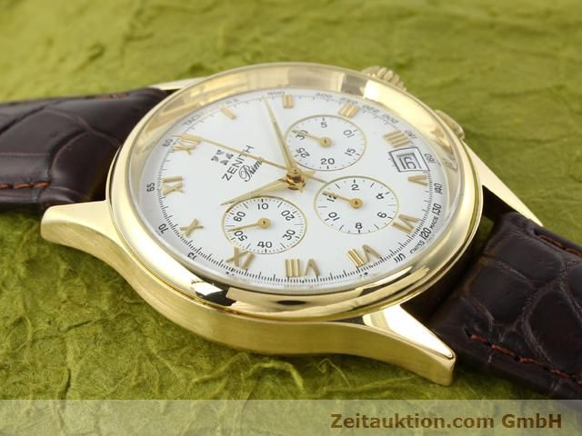 Used luxury watch Zenith Prime chronograph 18 ct gold manual winding Kal. 420 Ref. 06-0010.420  | 141078 11