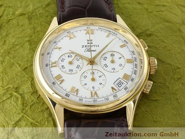 Used luxury watch Zenith Prime chronograph 18 ct gold manual winding Kal. 420 Ref. 06-0010.420  | 141078 12