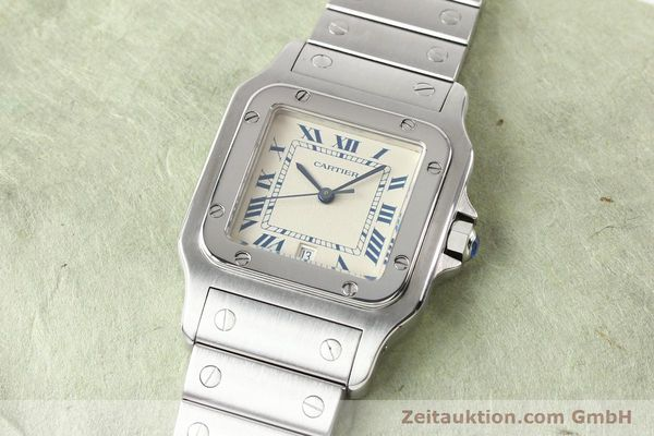 Used luxury watch Cartier Santos steel quartz  | 141081 01