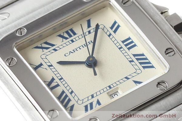 Used luxury watch Cartier Santos steel quartz  | 141081 02