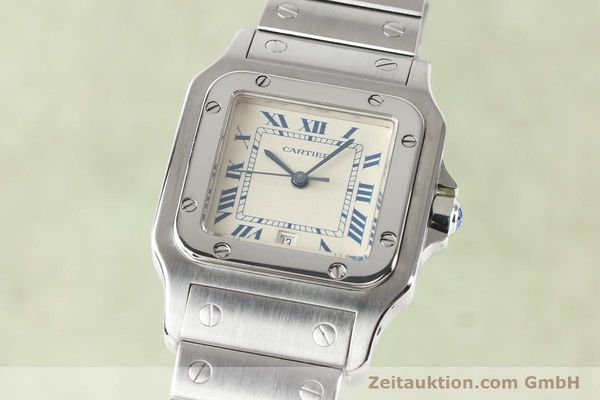 Used luxury watch Cartier Santos steel quartz  | 141081 04