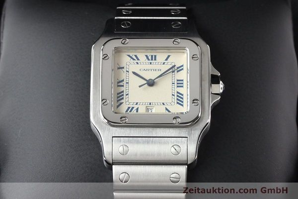 Used luxury watch Cartier Santos steel quartz  | 141081 07