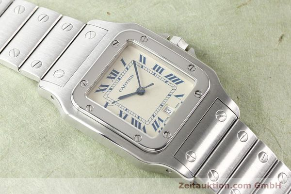 Used luxury watch Cartier Santos steel quartz  | 141081 14