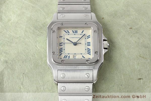 Used luxury watch Cartier Santos steel quartz  | 141081 15
