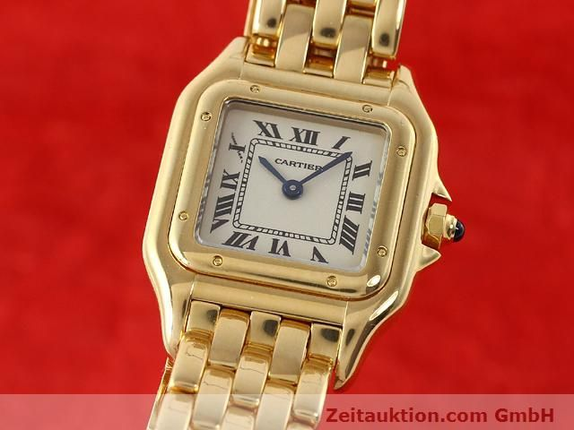 Used luxury watch Cartier Panthere 18 ct gold quartz Kal. 157.06  | 141083 04