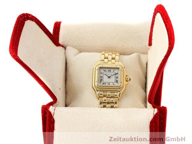 Used luxury watch Cartier Panthere 18 ct gold quartz Kal. 157.06  | 141083 07